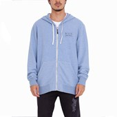 Moletom Canguru Billabong All Day Zip Azul Claro