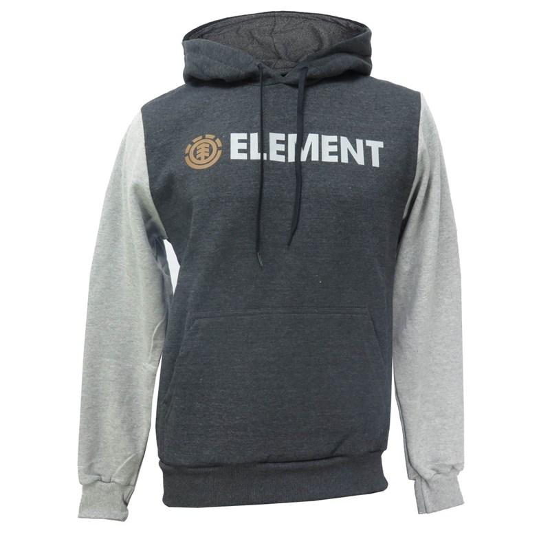Moletom Canguru Element Duo Block Cinza Extra G