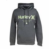 Moletom Canguru Hurley Cinza Cinza Amarelo