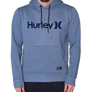 Moletom Canguru Hurley OeO Solid Azul Mescla