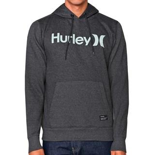 Moletom Canguru Hurley OeO Solid Cinza Escuro Mescla