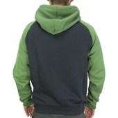 Moletom Canguru Hurley Preto e Verde