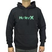 Moletom Canguru Hurley Preto e Verde 9622621
