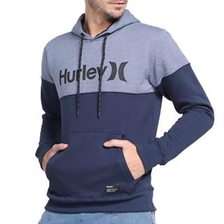 Moletom Canguru Hurley Rubber Azul