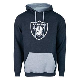 Moletom Canguru New Era NFL Raiders Military Logo Cinza