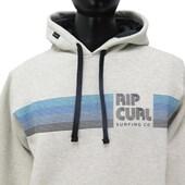 Moletom Canguru Rip Curl Stripe Undertown Cinza