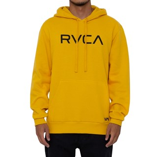 Moletom Canguru RVCA Big Amarelo Escuro