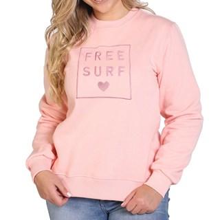 Moletom Careca Feminino Freesurf Flower Rosa