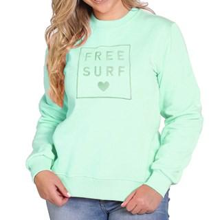 Moletom Careca Feminino Freesurf Flower Verde