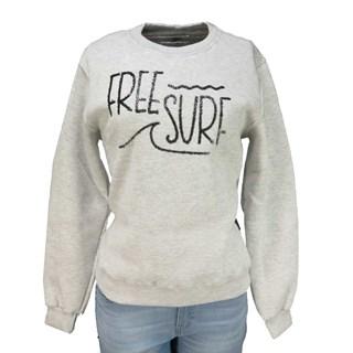 Moletom Feminino Freesurf Surf Cinza