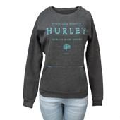 Moletom Feminino Hurley Cinza 736600 ... b4b94bd621c