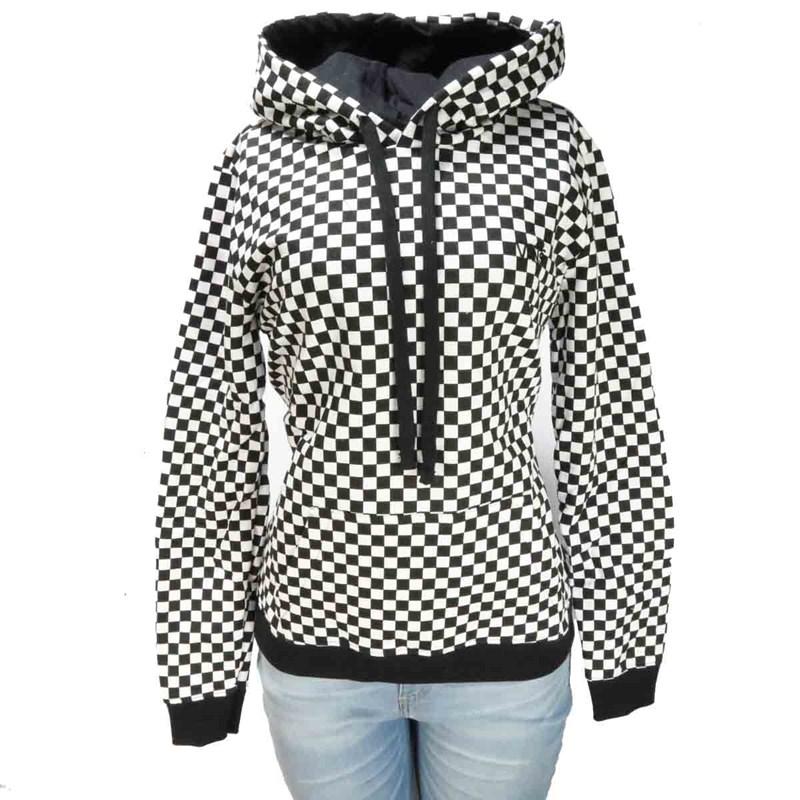 6f880c7b42a5b Moletom Feminino Vans Checkrs Xadrez - Back Wash