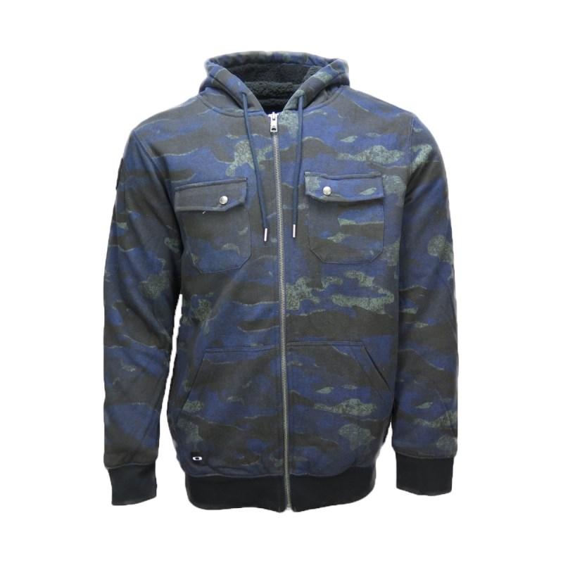 e663b08ded4a5 Compre Moletom Ziper Oakley Agent Hoodie Azul na Back Wash!