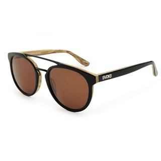 Óculos de Sol Evoke Kosmopolite DS3 M01 Black Shine Wood Brown