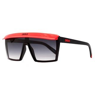 Óculos de Sol Futurah A08 Black Shine / Orange Fluor