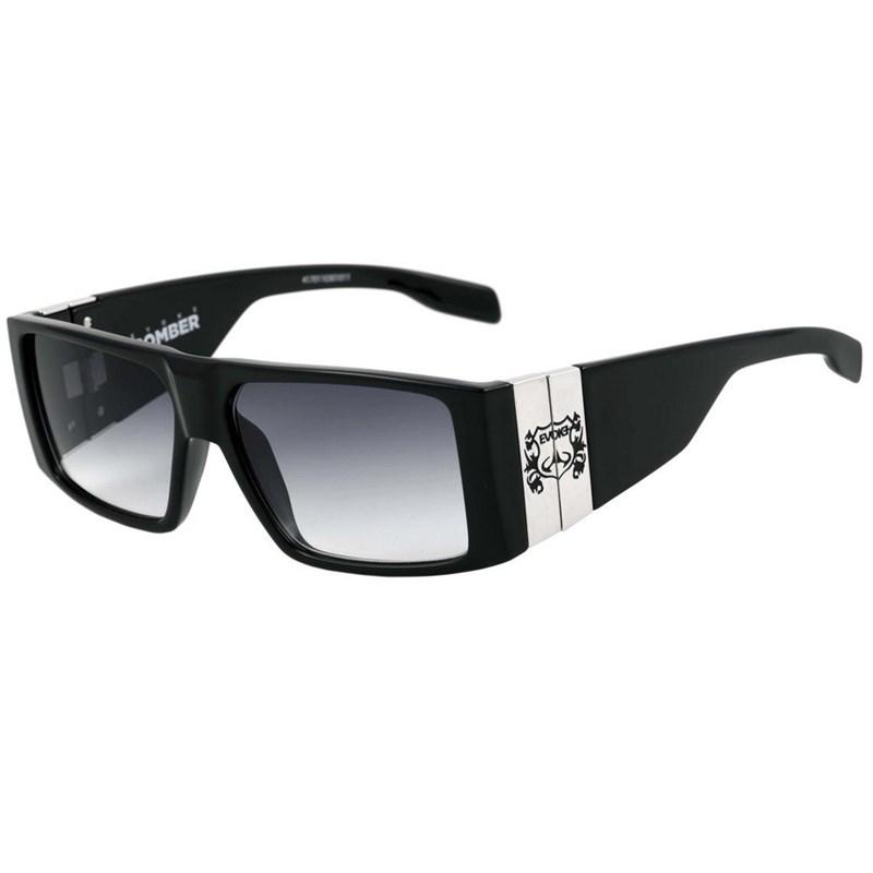 b14df1713 Óculos Evoke Bomber Black Shine - Silver - BackWash
