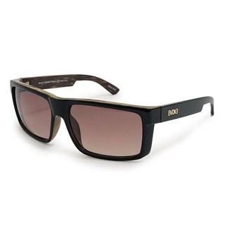 Óculos Evoke Shift W01 Black Shine Wood Brown Gold