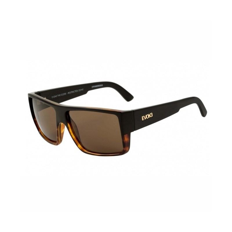 6ed820b1c9061 Óculos Evoke The Code Black Turtle Gold Brown Total - Back Wash