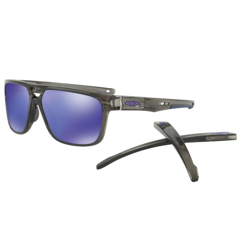 5a74b93112ee4 Óculos Oakley Crossrange Patch Grey Smoke   Violet iridium 9382-02
