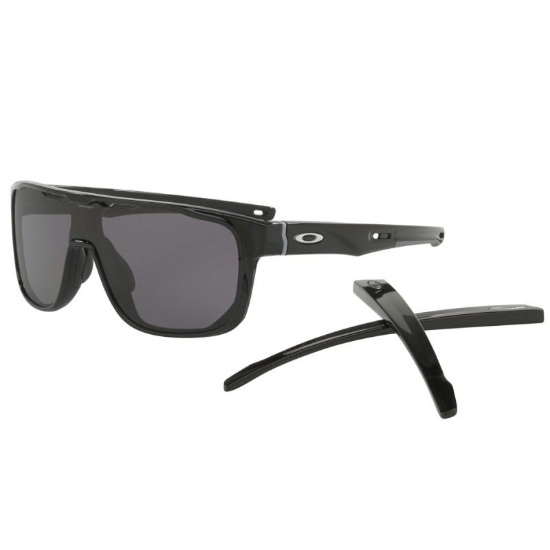 730c26e56 Óculos Oakley Crossrange Shield Polished Black / Grey 9387-0131