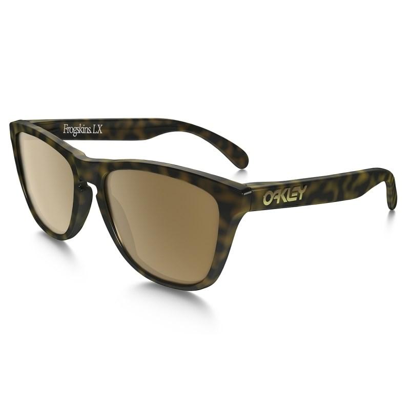 f2ae5daccde0f Óculos Oakley Frogskins LX Dark Brown Tortoise Dark Bronze - Back Wash