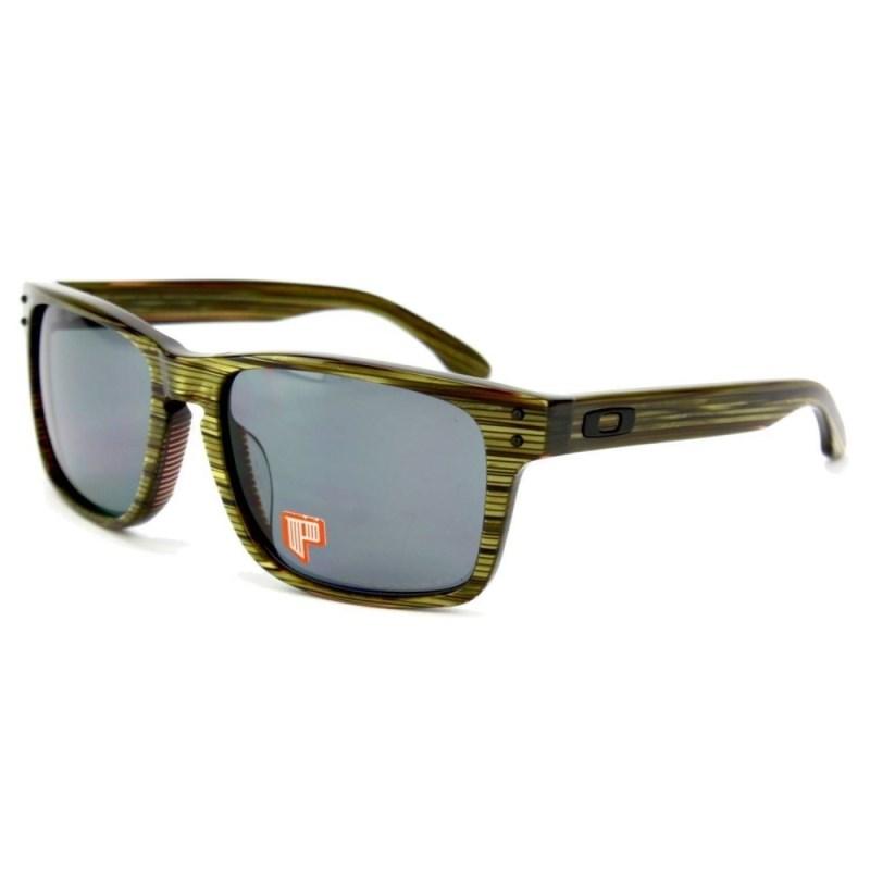 b9692363142cc Óculos Oakley Holbrook LX Fallout Banded Green Grey Polarizado ...