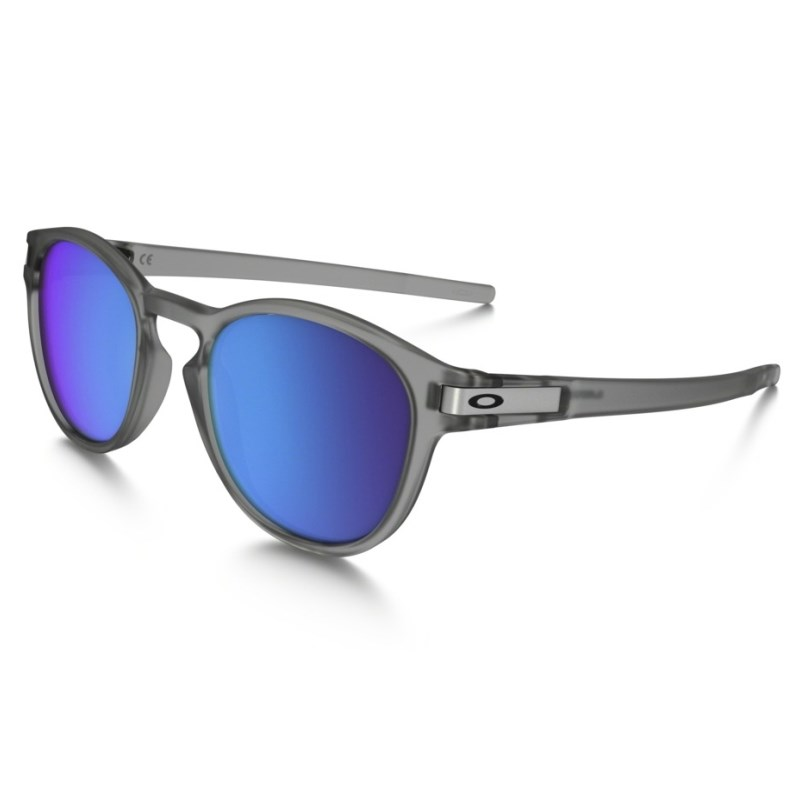99eb3211a591e Óculos Oakley Latch Matte Gray Ink   Sapphire Iridium Polarized
