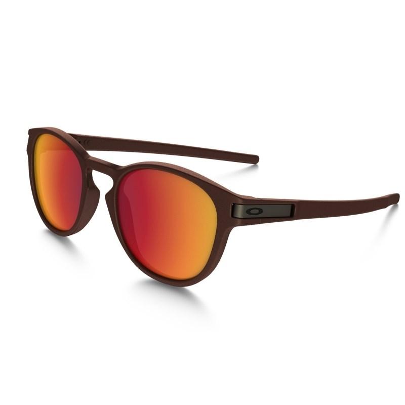 fbc205f6eae27 Óculos Oakley Latch Metal Collection Corten Torch Iridium - Back Wash