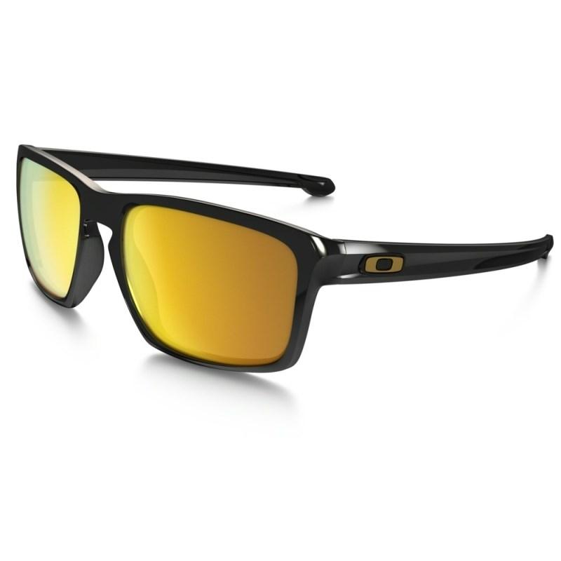 0b06cc28d Óculos Oakley Sliver Polished Black 24k Iridium - Back Wash