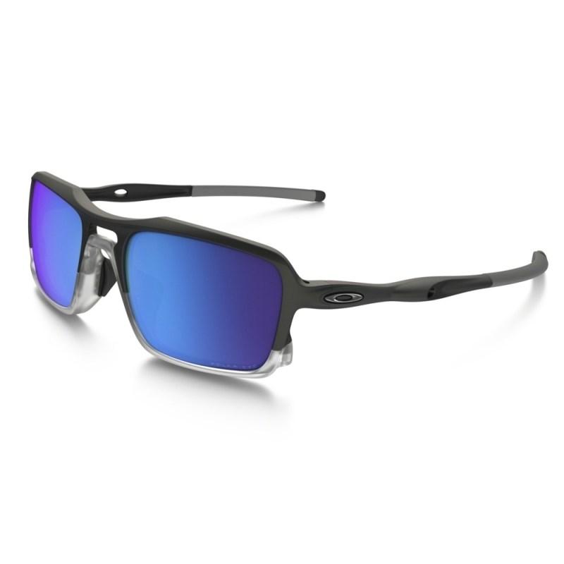32546d5d7 Óculos Oakley Triggerman Matte Black Sapphire Iridium Polarizado ...