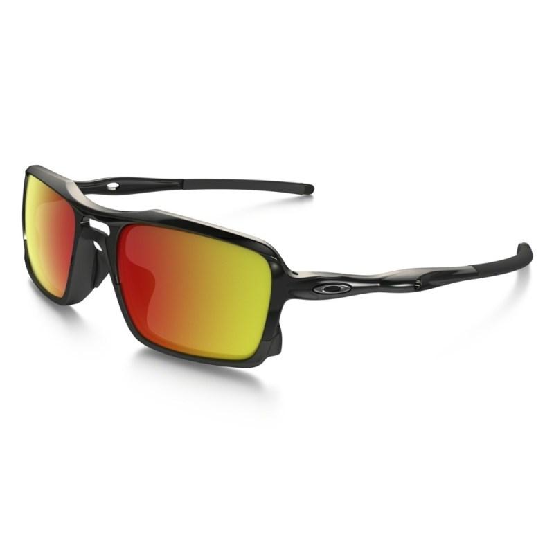 57b609915 Óculos Oakley Triggerman Polished Black Ruby Iridium - Back Wash