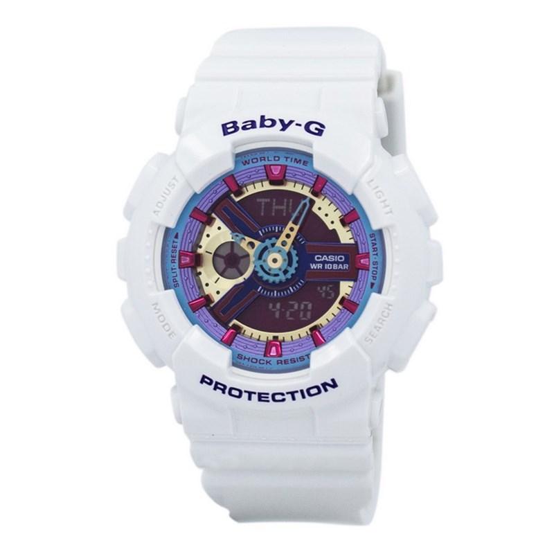7c6baac4380 Relógio Casio Baby G Branco Rosa Azul - BackWash