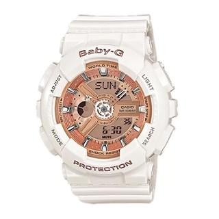 Relógio Casio Baby G Branco/Rosê