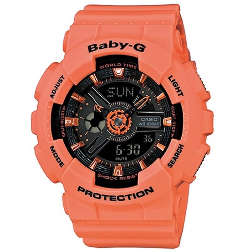 170725cac53 Relógio Casio Baby G Coral - Back Wash