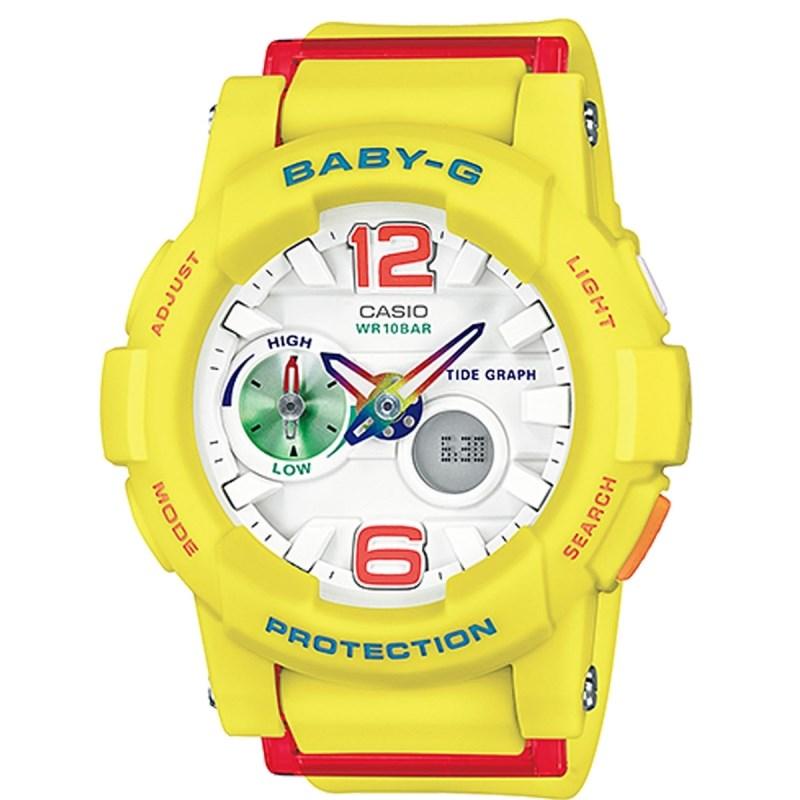 51b9a00b6f2 Relógio Casio Baby G G-Lide Amarelo Vermelho - Back Wash