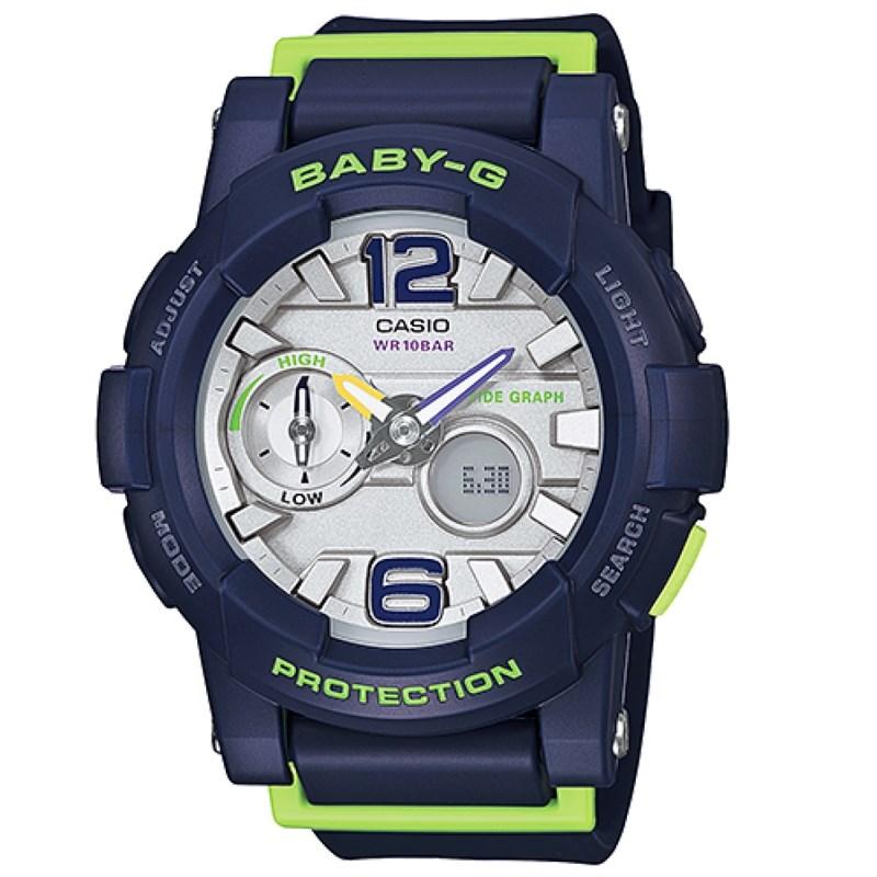 5e3429f8696 Relógio Casio Baby G G-Lide Azul Verde - Back Wash
