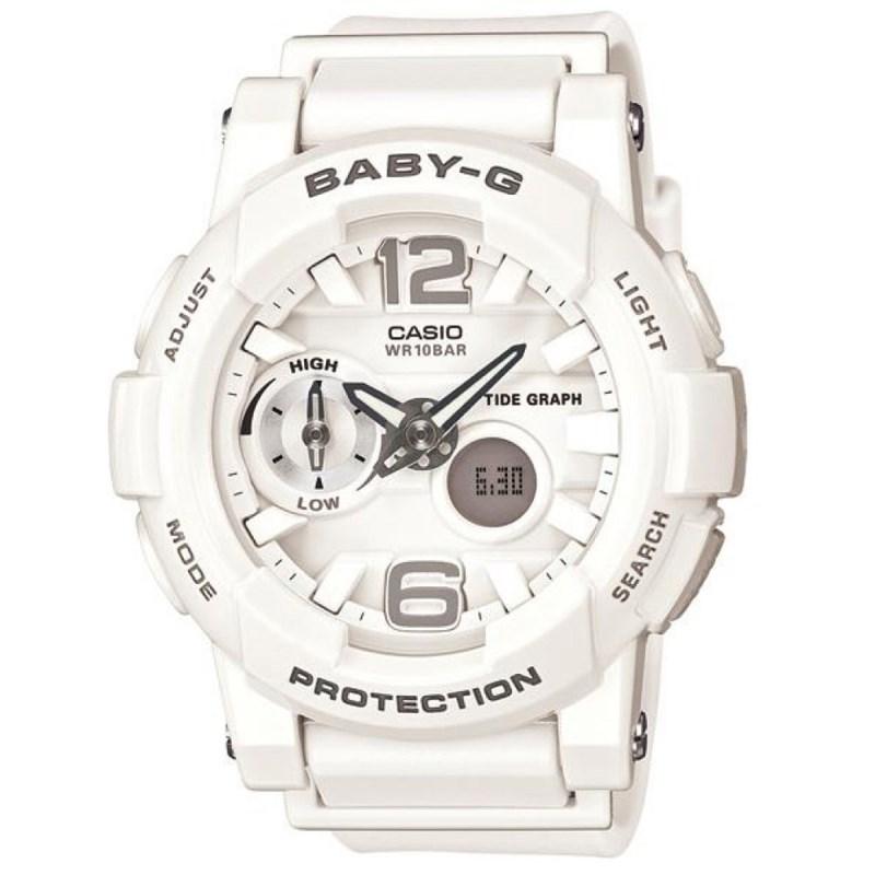 997fae817dd Relógio Casio Baby G G-Lide Branco - Back Wash