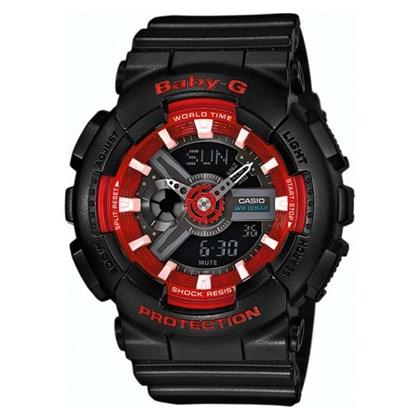 Relógio Casio Baby G Preto/Vermelho