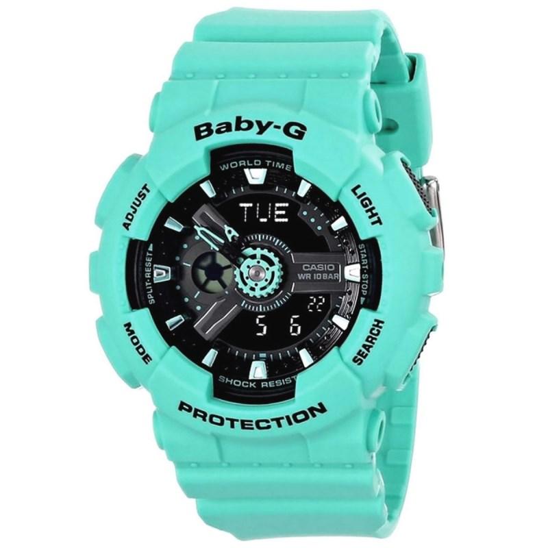 b1f77969d69 Relógio Casio Baby G Verde - Back Wash