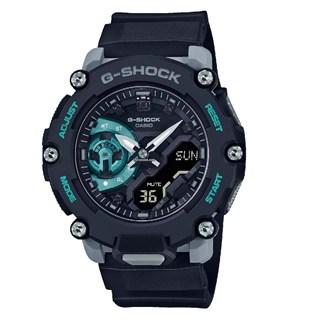 Relógio Casio G-Shock GA-2200M-1A Preto Turquesa