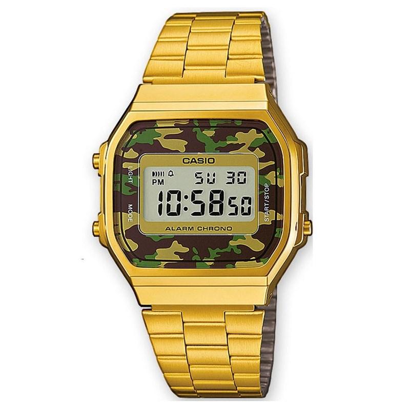 Relógio Casio Vintage A168WEGC-3DF Dourado - Back Wash f1c8148cb4