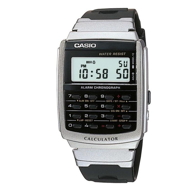 7d6ac8239e4 Relógio Casio Vintage Calculadora CA-56-1DF - Back Wash