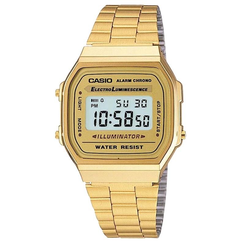 f00db0af503 Relógio Casio Vintage Dourado A168WG-9WDF - Back Wash