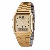 Relógio Casio Vintage Dourado AQ-230GA-9BMQ