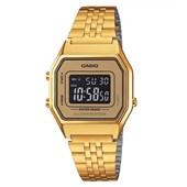 Relógio Casio Vintage Dourado LA680WGA-9BDF