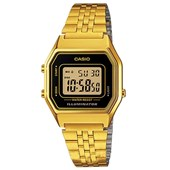 Relógio Casio Vintage Dourado/Preto LA680WGA-1DF