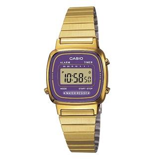Relógio Casio Vintage Dourado / Roxo LA670WGA-6DF