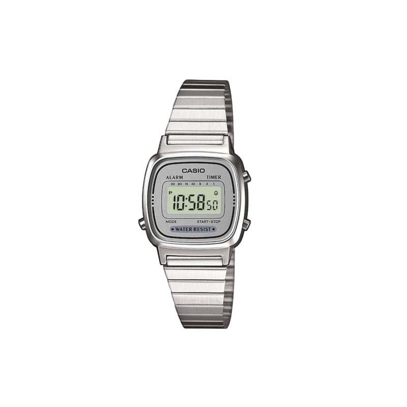 878ad786712 Relógio Casio Vintage Prata LA670WA-7DF - Back Wash