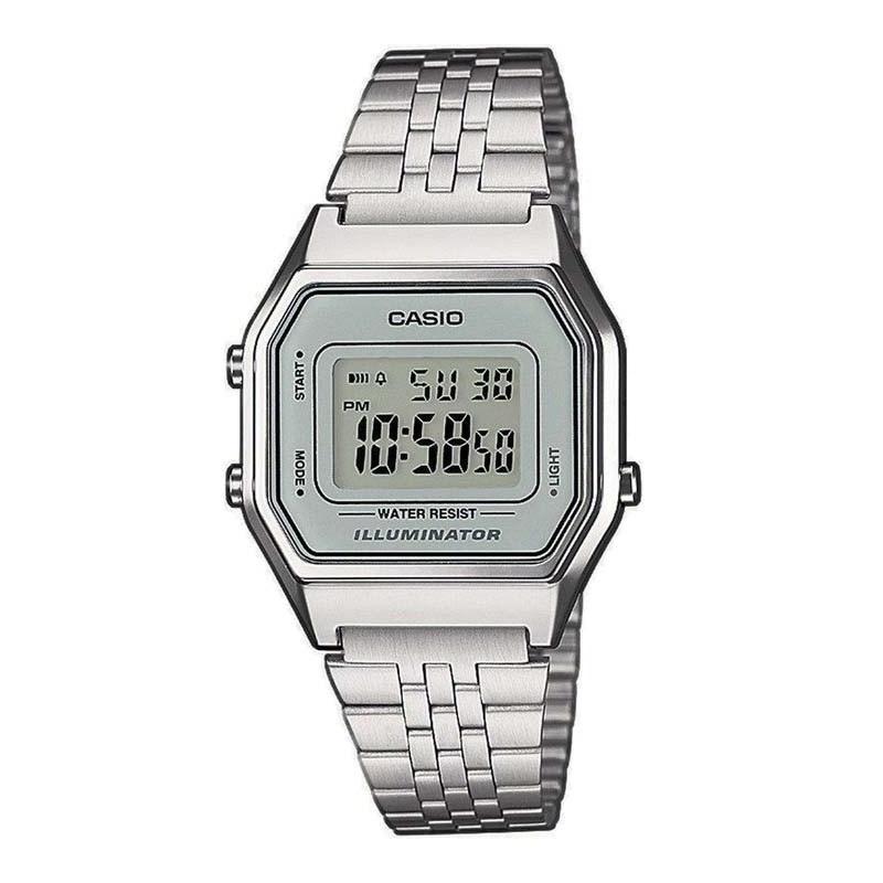 3d2000ce77a Relógio Casio Vintage Prata LA680WA-7DF