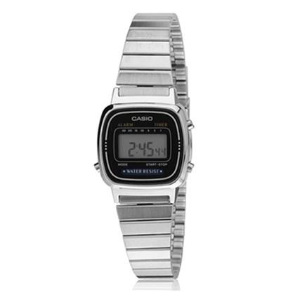 Relógio Casio Vintage Prata/Preto LA670WA-1DF